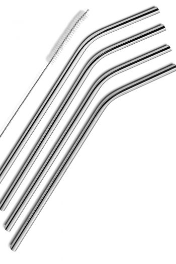 Stainless Steel Drinking Straws only $6.95 for 4