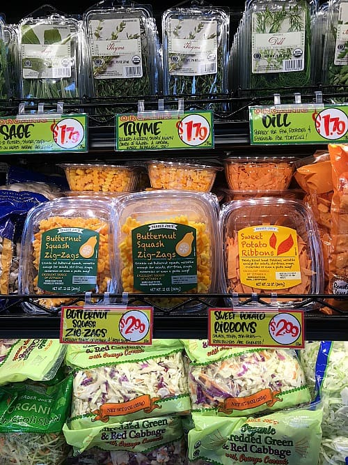 Trader Joe's Thanksgiving Prices Produce Shortcuts