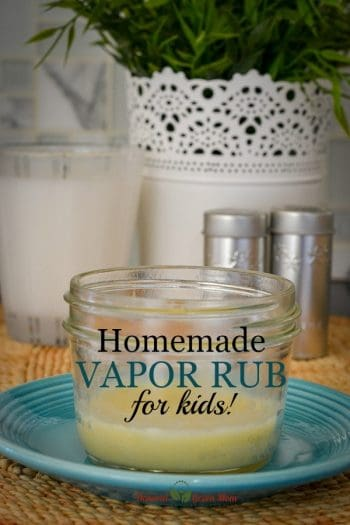 Homemade Vapor Rub for Kids with All Natural Ingredients