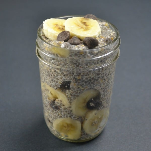 Banana Chocolate Chip Chia Seed Pudding Recipe