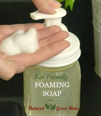 homemade kid friendly foaming soap