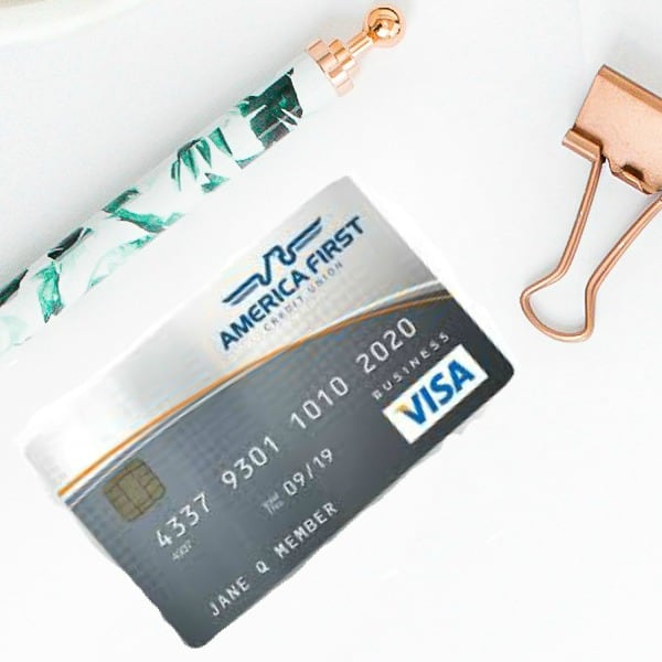credit card on desk