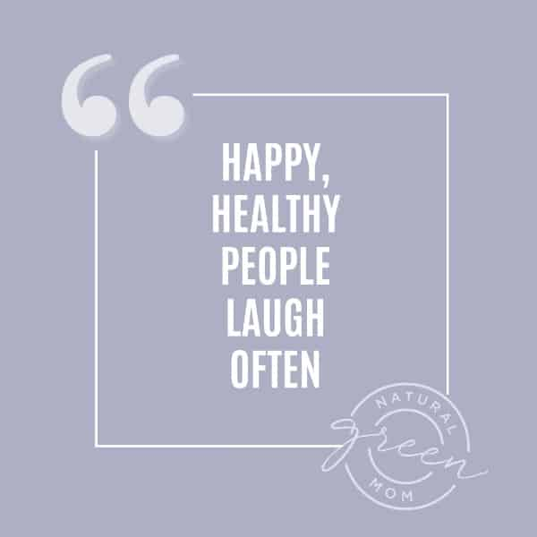 purple background with quote happy healthy people laugh often