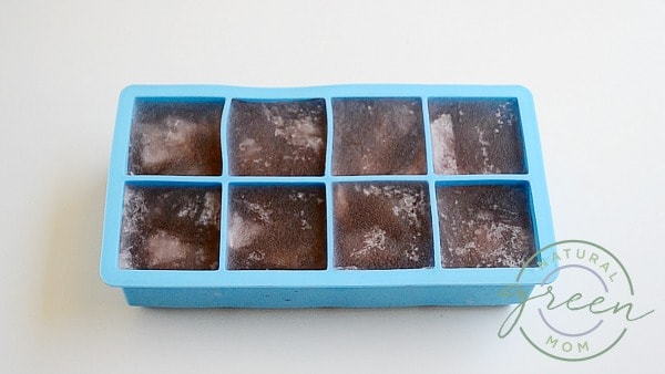 Whiskey ice cube tray with frozen rosé for a rosé slushie.