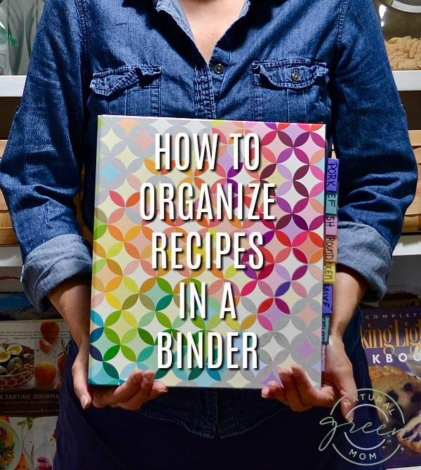 How To Organize Recipes In A Binder