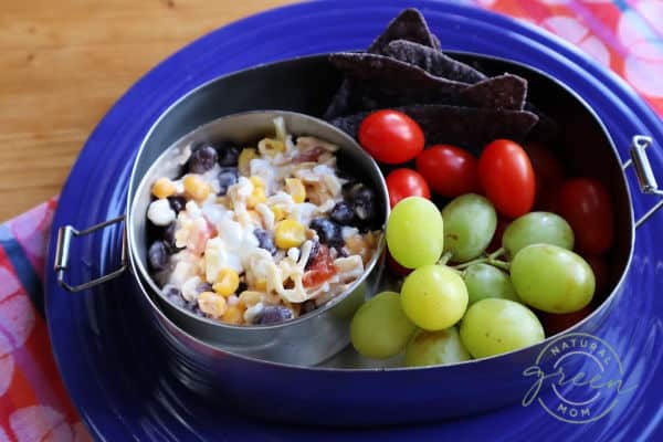 Mexican cottage cheese salad makes an easy, healthy lunch.
