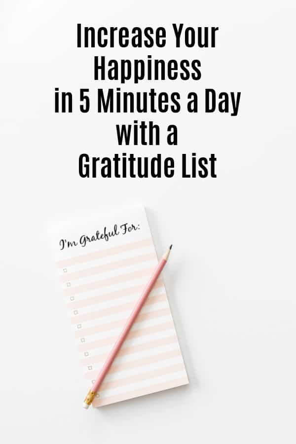 Gratitude List tablet with words I'm Grateful For